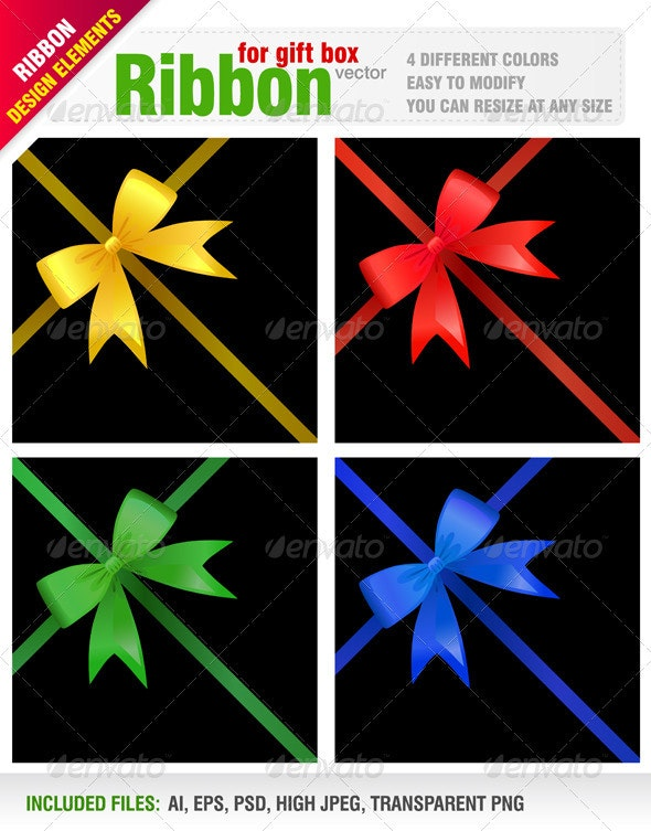 Ribbon for Gift Box - Backgrounds Decorative