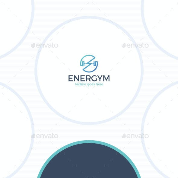 Energy Gym Logo - Power Circle