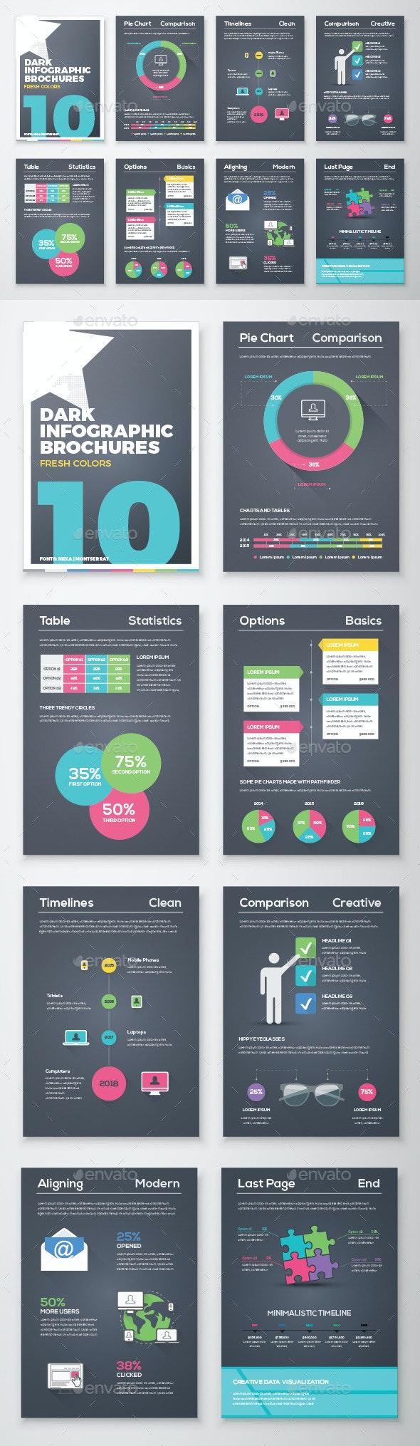 Infographic Brochure Vector Elements Kit 10 - Infographics