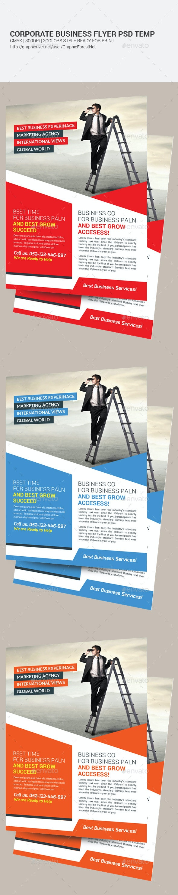 Creative Corporate Psd Flyer Template  - Corporate Flyers