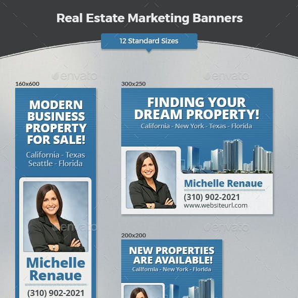 Real Estate Marketing Banners