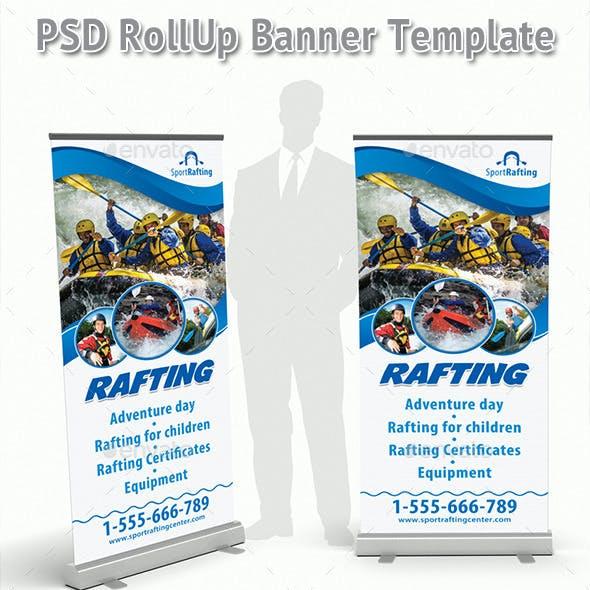 Rafting Sport Club Rollup Banner 55