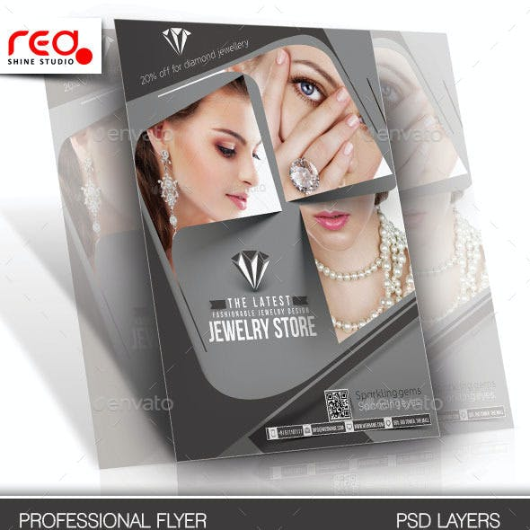 Jewelry Store Flyer & Poster Template -1
