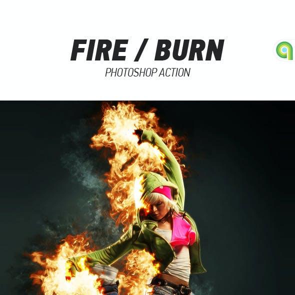 Fire / Burn Photoshop Action