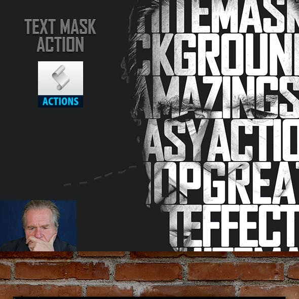 Text Mask Photo Effect