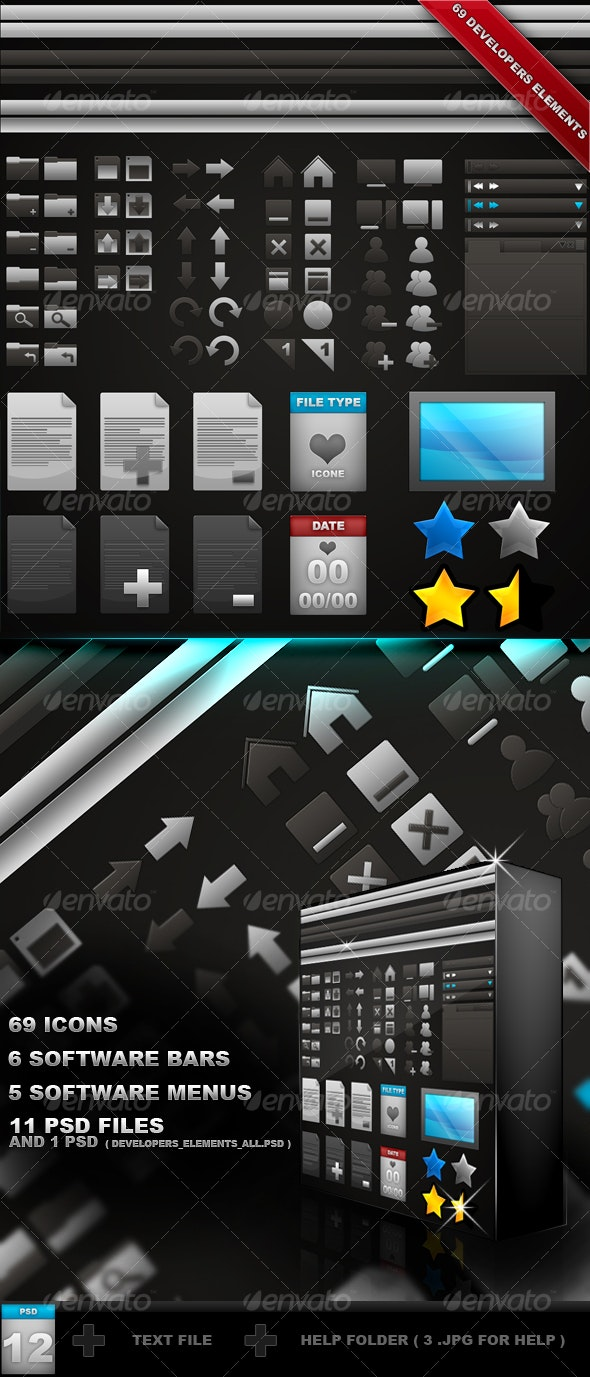 80 Developers Elements - Decorative Graphics