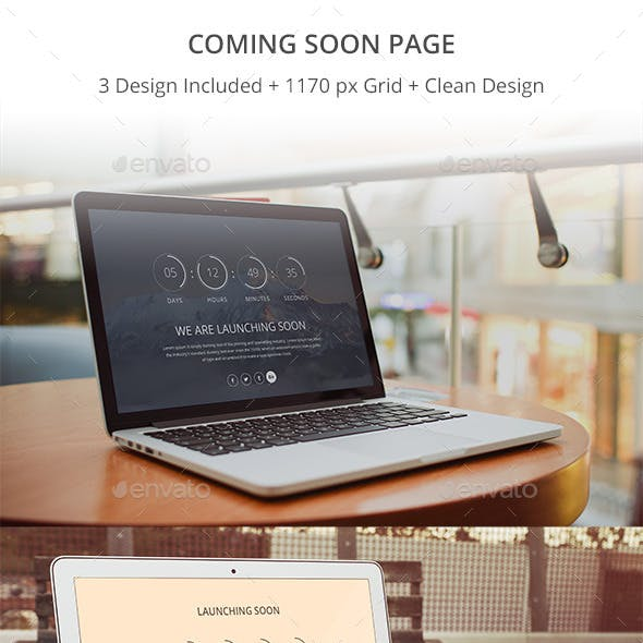 Clean Coming Soon Page