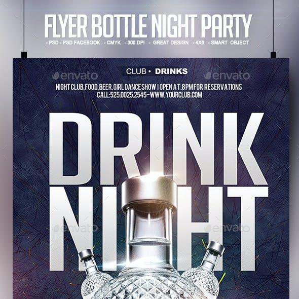 Flyer Bottle Night Party