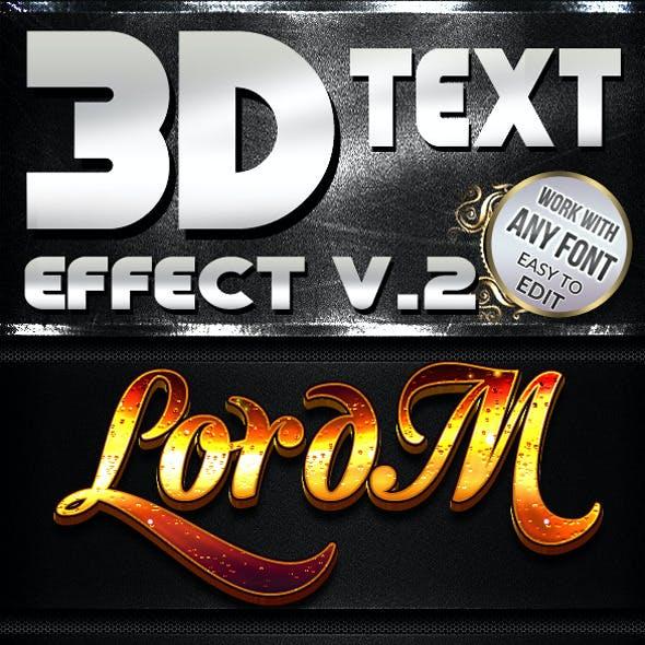 3D Text Effect V.2