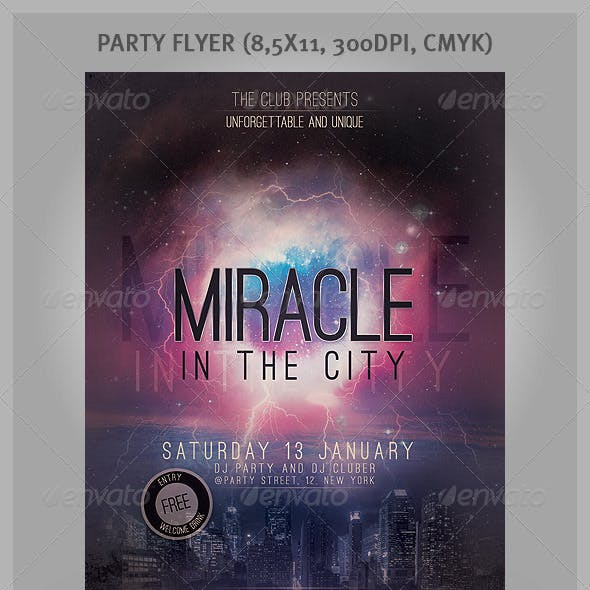 Miracle In The City - Praty Flayer