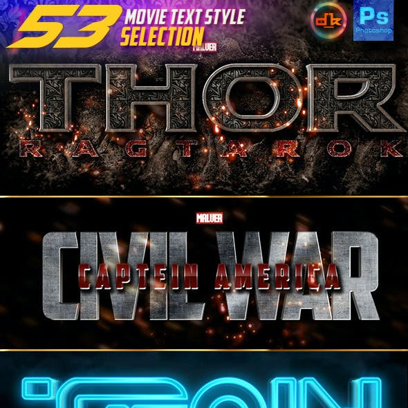 53 Movie Text Style Selection Bundle