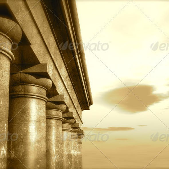 3d Antique Classical Architecture Roman Monument