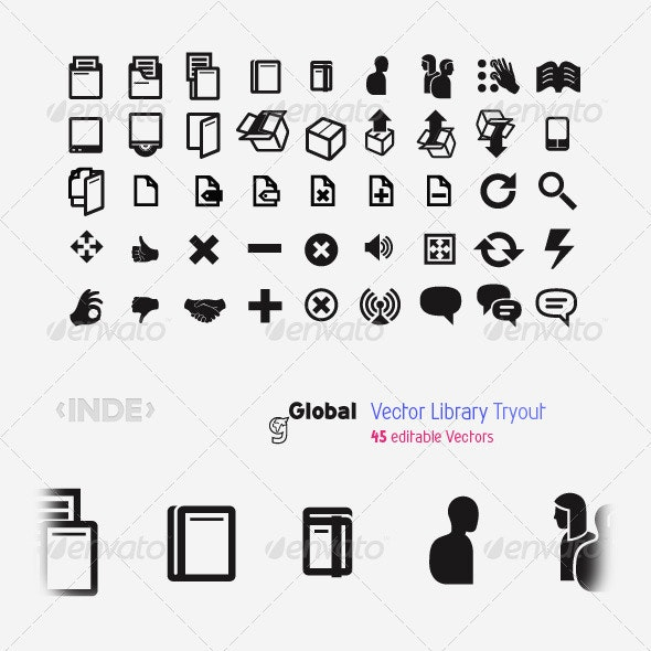 Stock Vector Icons 45 Vectors - Web Icons