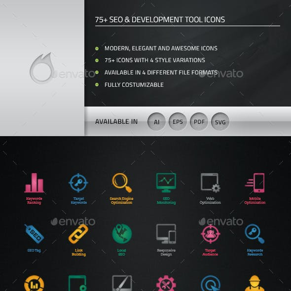 75+ SEO and Development Tool Icons