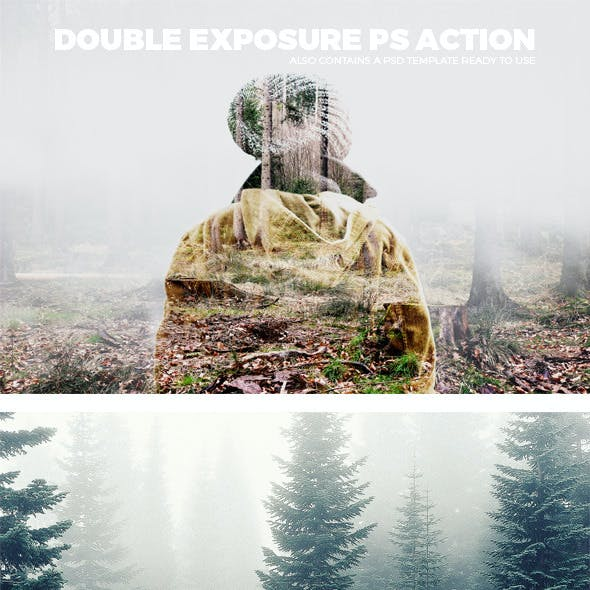 Double Exposure Photshop Action and Psd Template