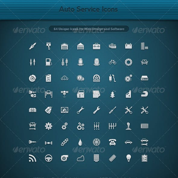 64 Unique Auto Service Icons