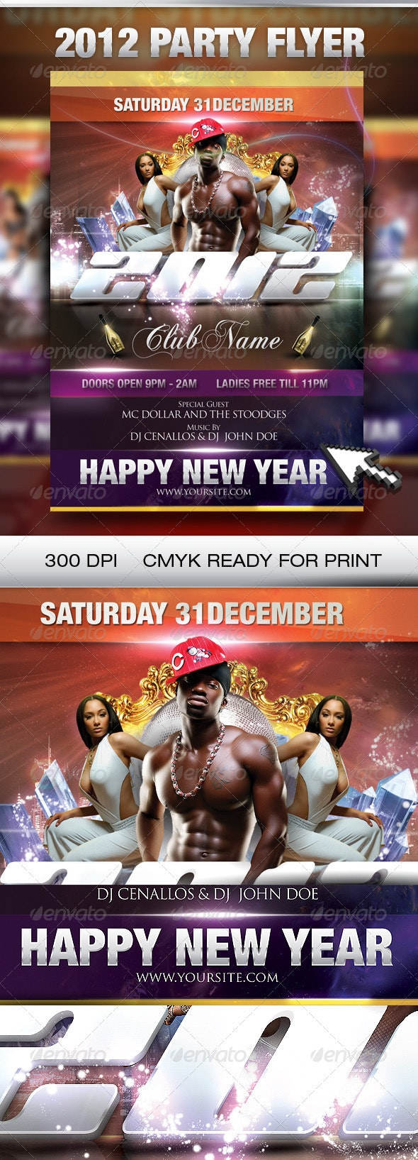 New year Part Flyer - Clubs & Parties Events