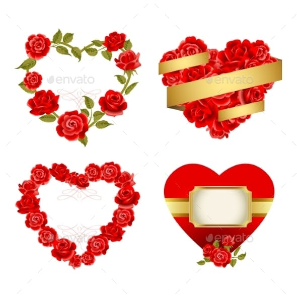 Frames with Red Roses