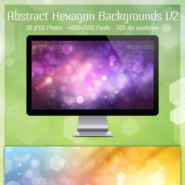 Abstract Hexagon Backgrounds V2