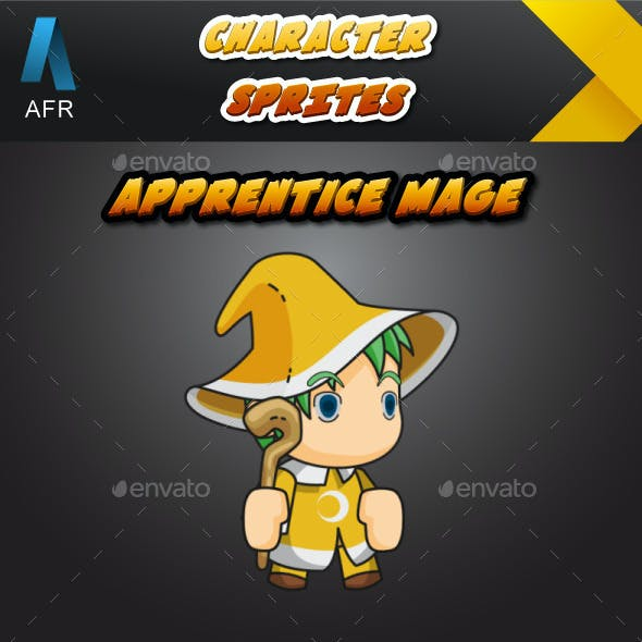 AFR Tiny Character Sprite - Apprentice Mage