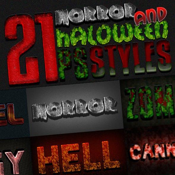 Photoshop Text Styles Bundle / Horror Pack