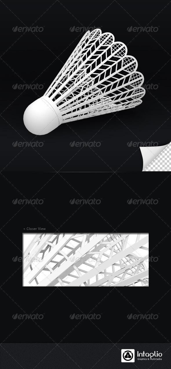 Shuttlecock 3D Render - Objects 3D Renders