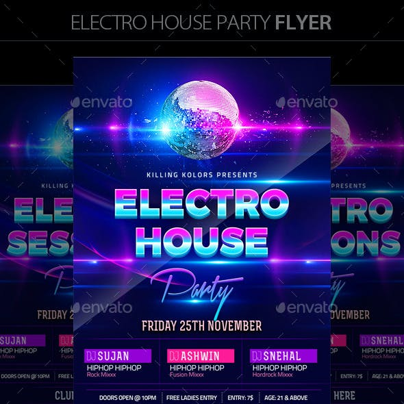 Electro Night Graphics, Designs & Templates from GraphicRiver