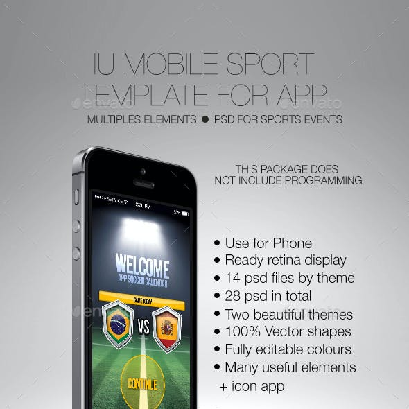 IU Mobile Sport Template for App