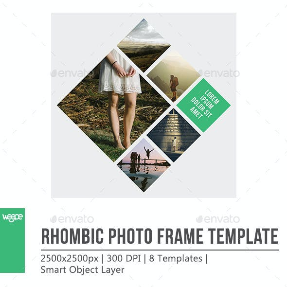 Rhombic Photo Frame Template