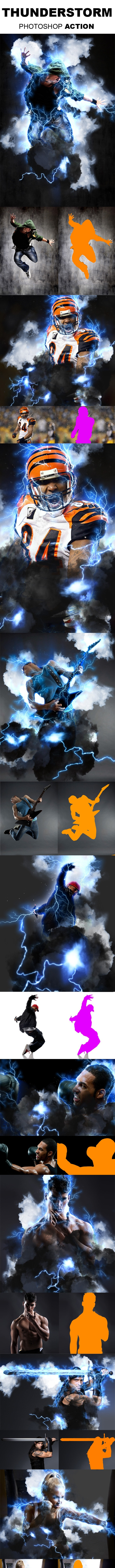Thunderstorm Photoshop Action - Photo Effects Actions