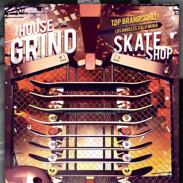 Skate Shop - Skateboarding Flyer Template