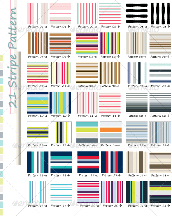 21 Colorful Stripe Patterns - Patterns Backgrounds