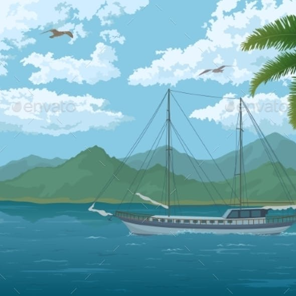 Sea Landscape with Ship