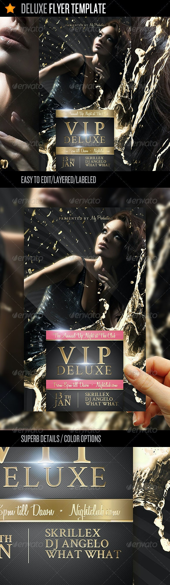 Deluxe - Flyer Template - Clubs & Parties Events