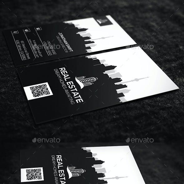 Vertical Real Estate Business Card