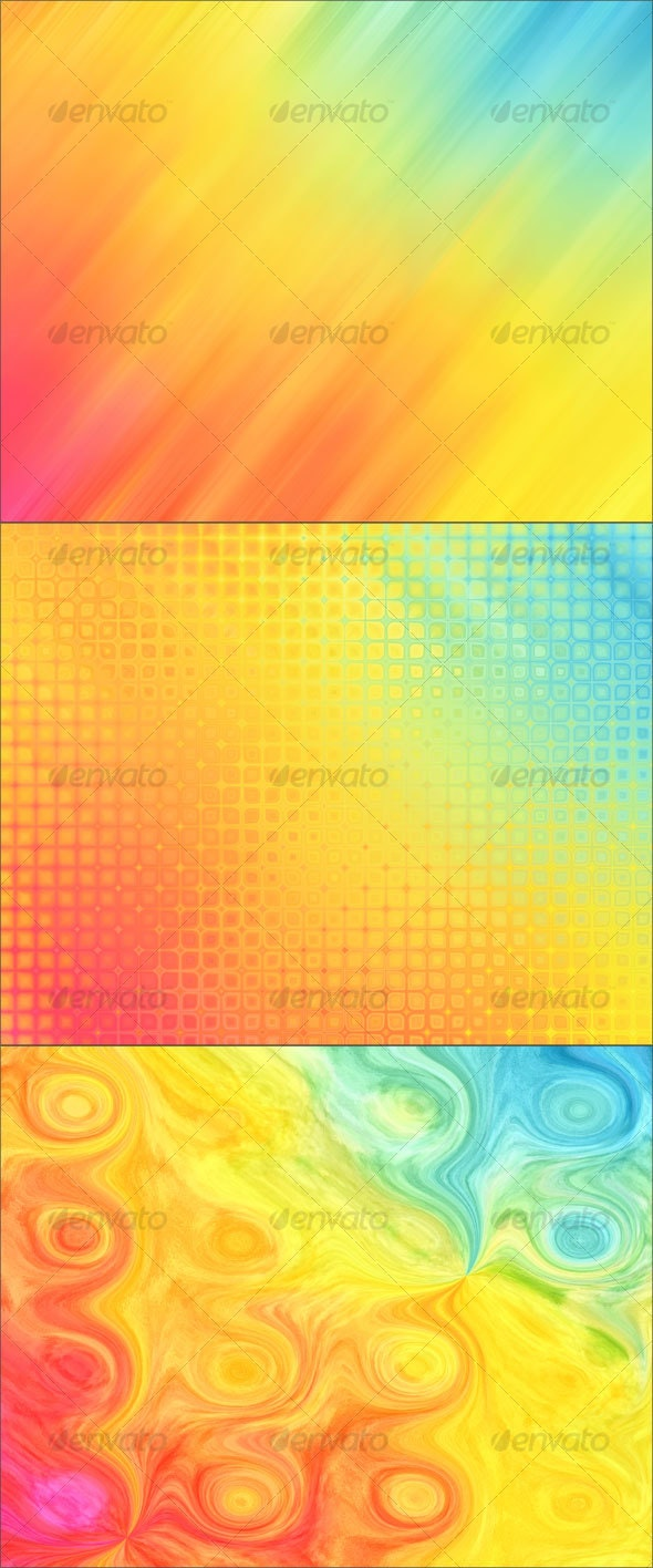 Rainbow Rain Backgrounds - Abstract Backgrounds