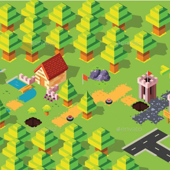 Isometric Forest Pack