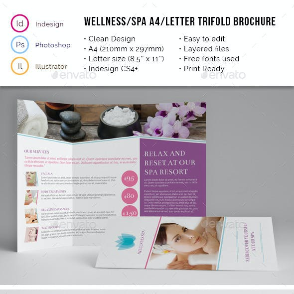 Spa Wellness A4 / Letter Trifold