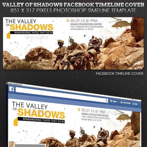 Valley Shadows Facebook Timeline Cover Template