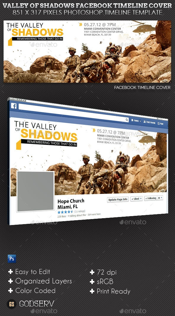 Valley Shadows Facebook Timeline Cover Template - Facebook Timeline Covers Social Media