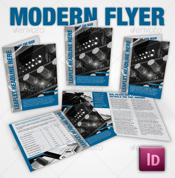 Simple Corporate Leaflet - InDesign - Clubs & Parties Events