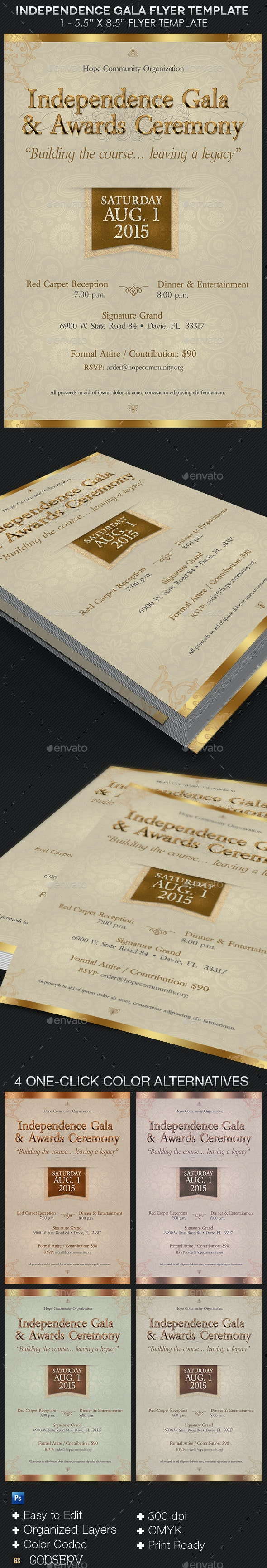 Independence Gala Flyer Template - Events Flyers