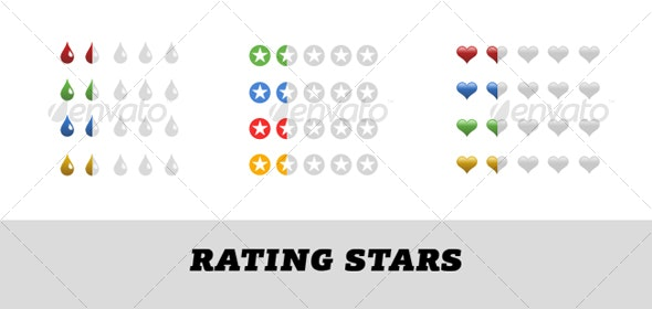 Rating stars - Miscellaneous Web Elements