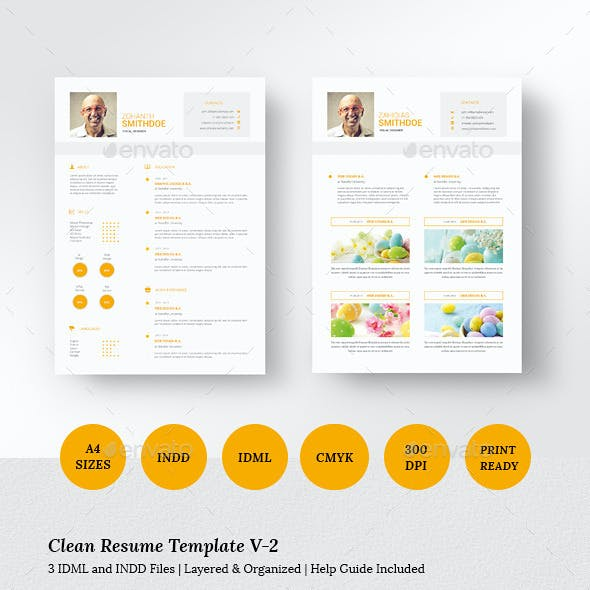 Clean Resume Template V-2