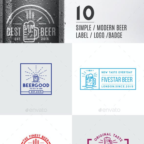10 Modern Beer Label, Logos & Badge