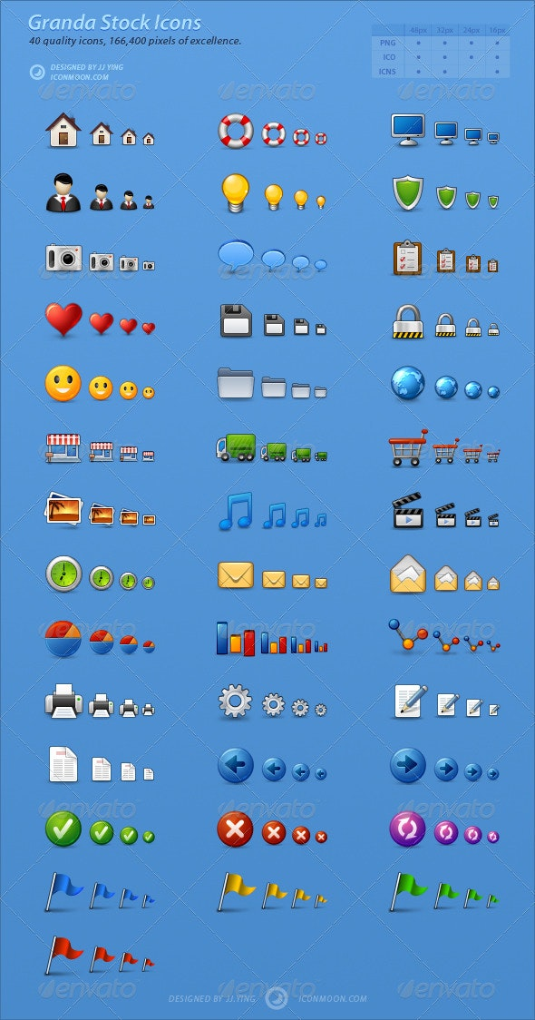 Granda Stock Icons - Software Icons