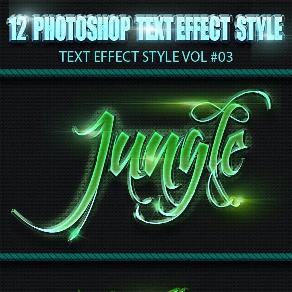 12 Photoshop Text Effect Styles Vol 3