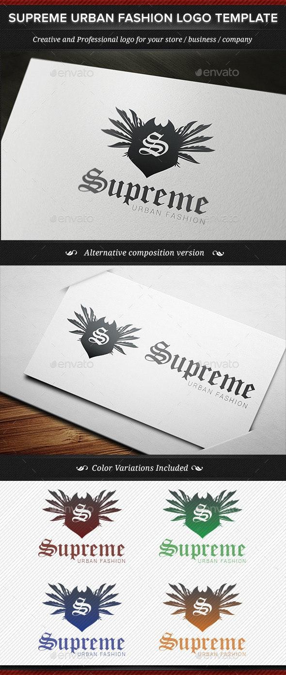 Supreme Urban Fashion Logo Template - Crests Logo Templates