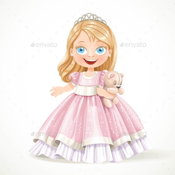 Little Princess In Magnificent Pink Dress