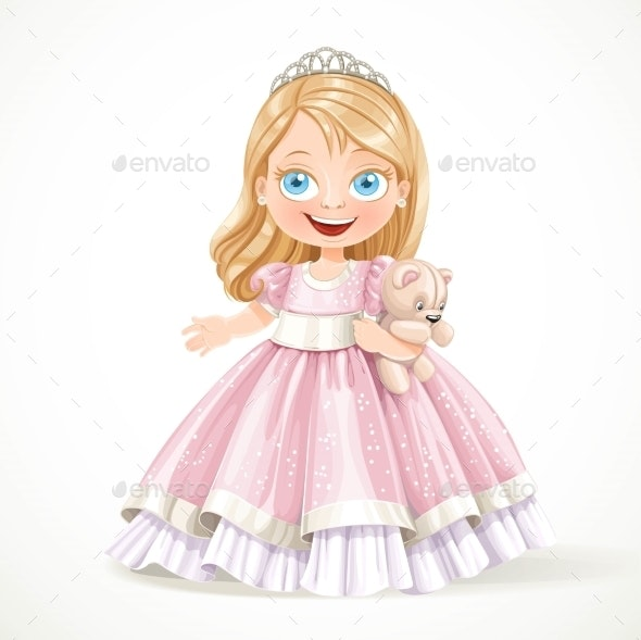 Little Princess In Magnificent Pink Dress - People Characters